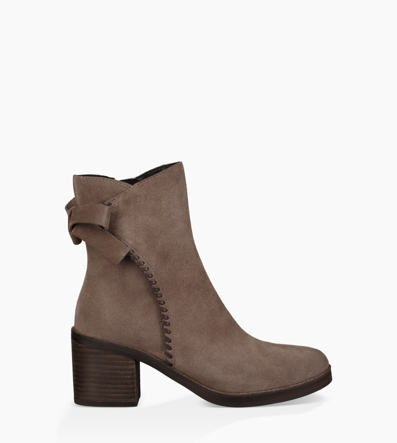 UGG Women's Fraise Whipstitch Suede Heeled Ankle Boots - Mouse - UK 7.5 6kvF8b
