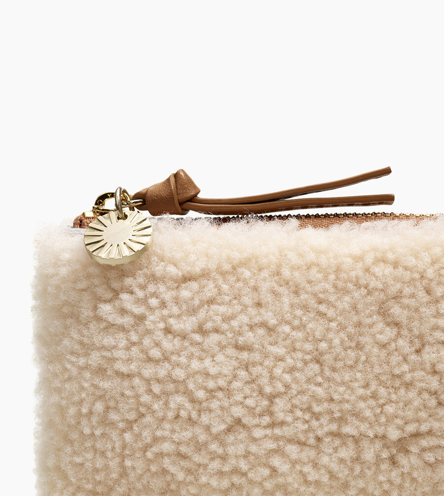 SMALL ZIP POUCH SHEEPSKIN