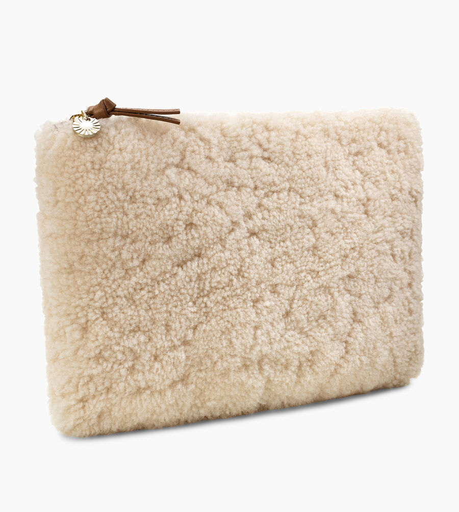 LARGE ZIP POUCH SHEEPSKIN