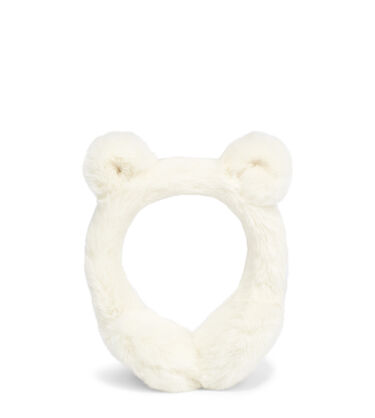 FAUX FUR EARMUFF WITH EARS