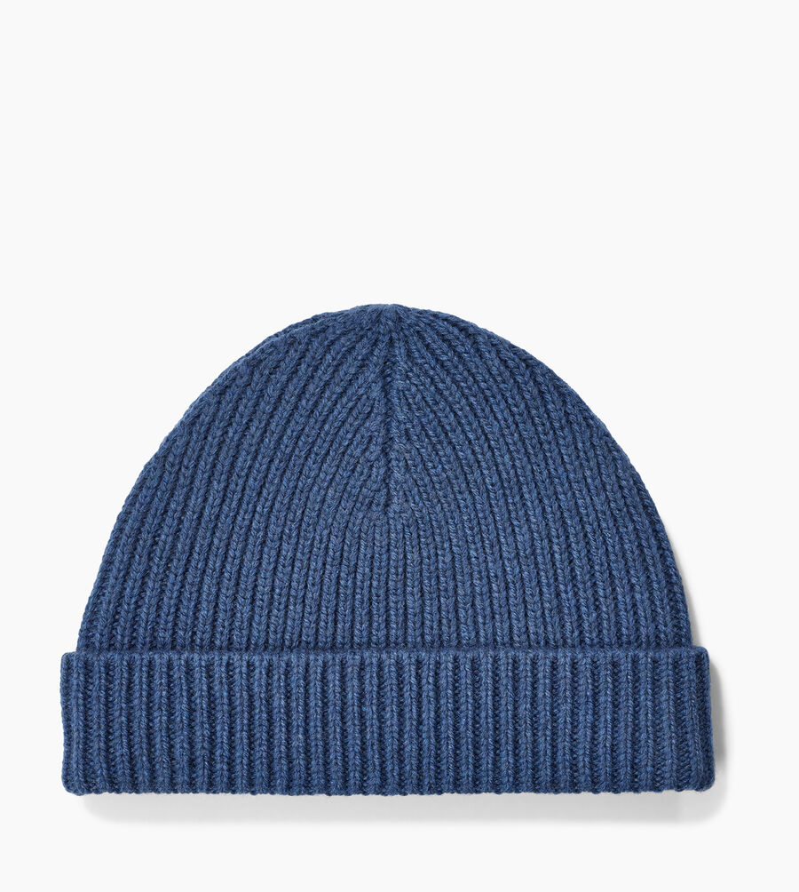 RIBBED CUFF TOPPER HAT