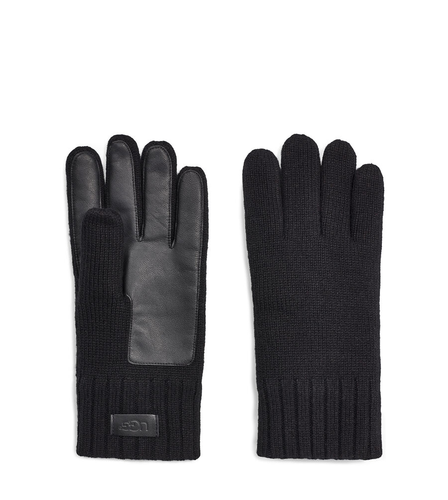 KNIT GLOVE WITH PALM PATCH