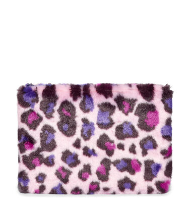 MEDIUM ZIP POUCH FAUX FUR