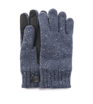 KNIT AND LEATHER GLOVE