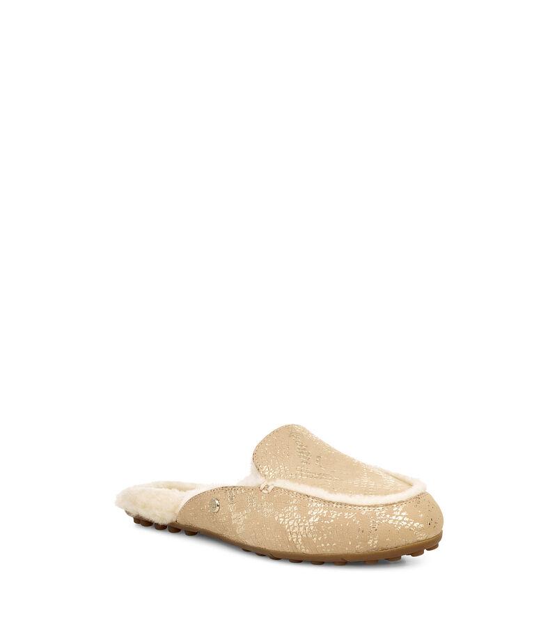 Lane Metallic Snake Loafers