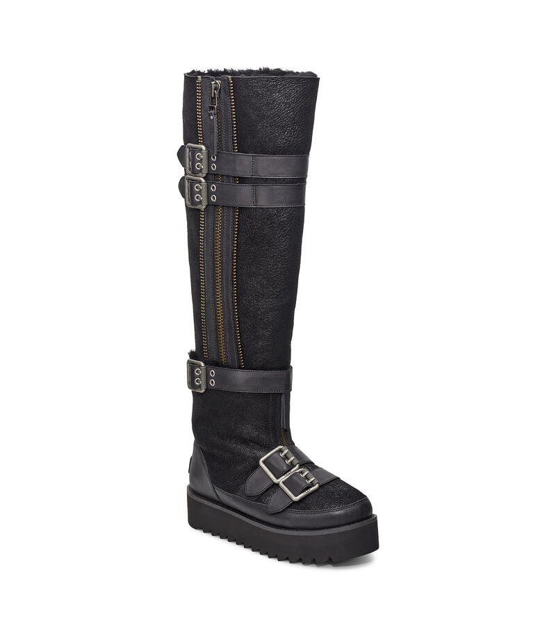 Moto Punk Over The Knee Bottes