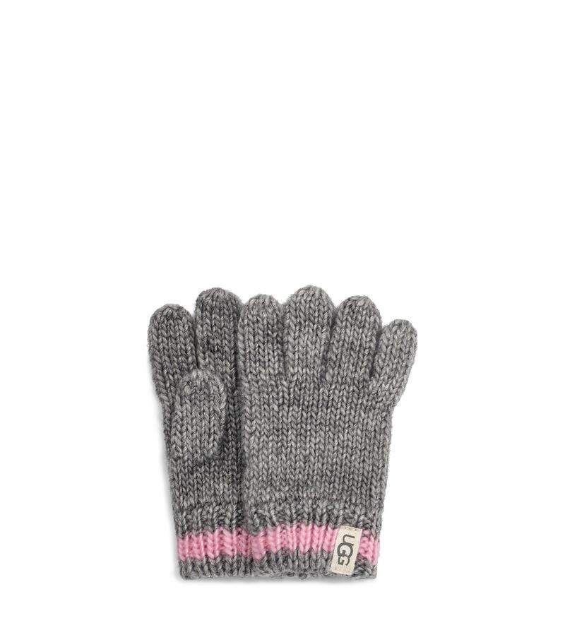 Chunky Stripe Knit Glove