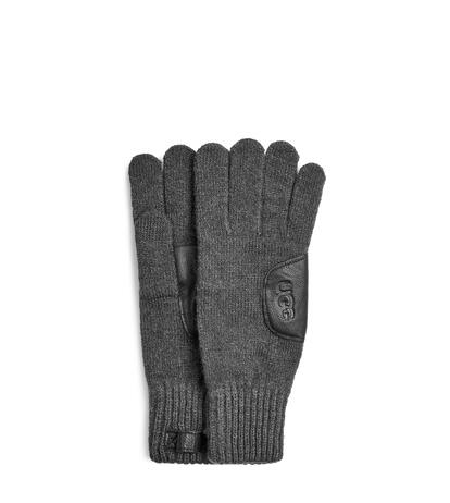 Knit with Leather Patch Handschoenen
