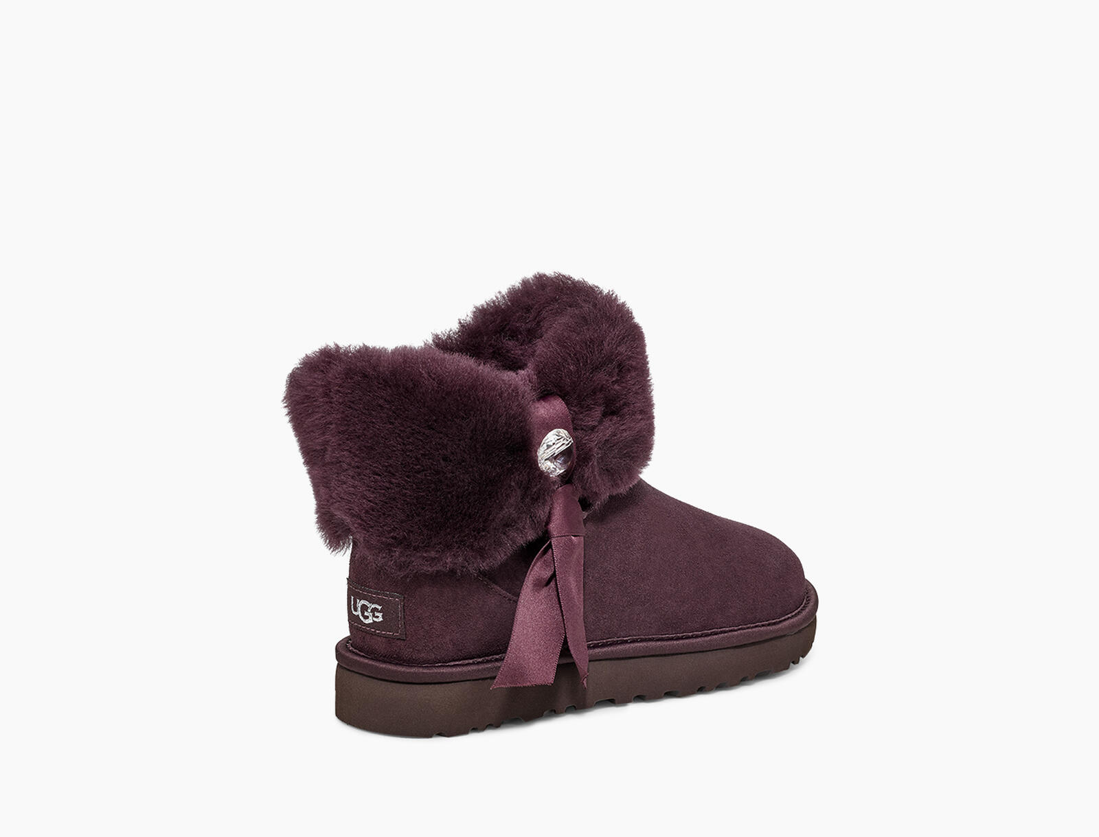 Cinched Fur Mini Stiefel