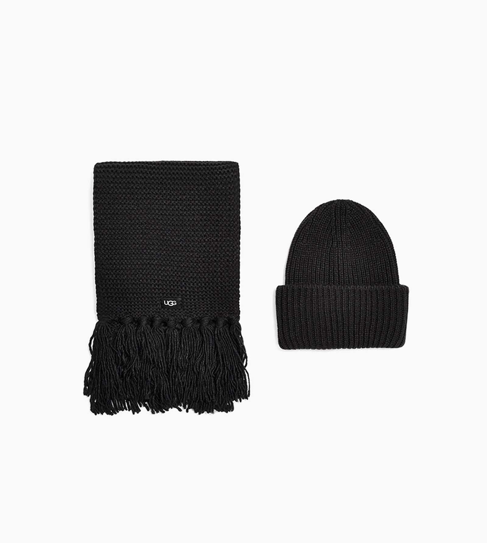 Knit Cuff Hat and Scarf Set
