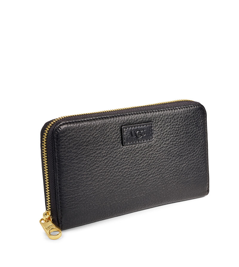 Honey Zip Leather Wallet