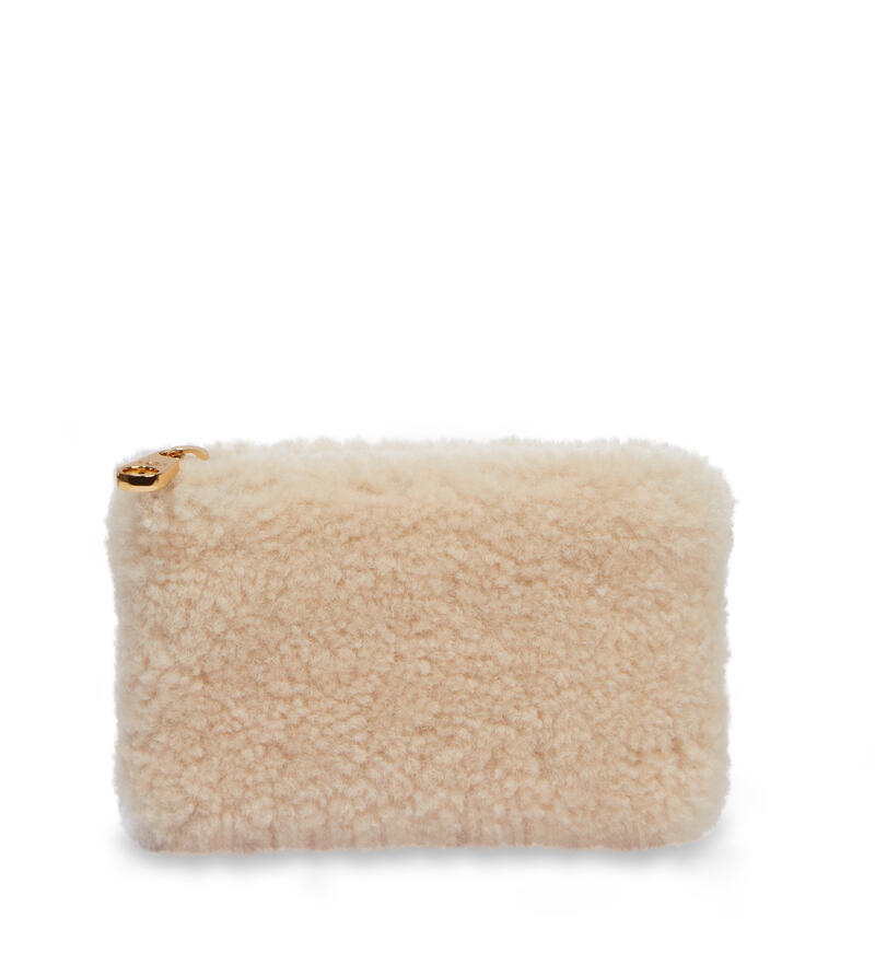 Small Zip Pouch Sheepskin Pochette