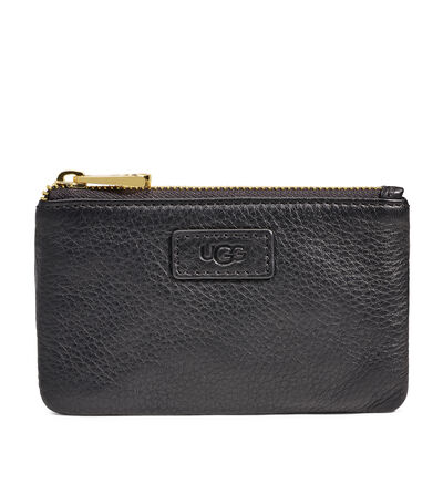 Small Zip Pouch Leather Clutch