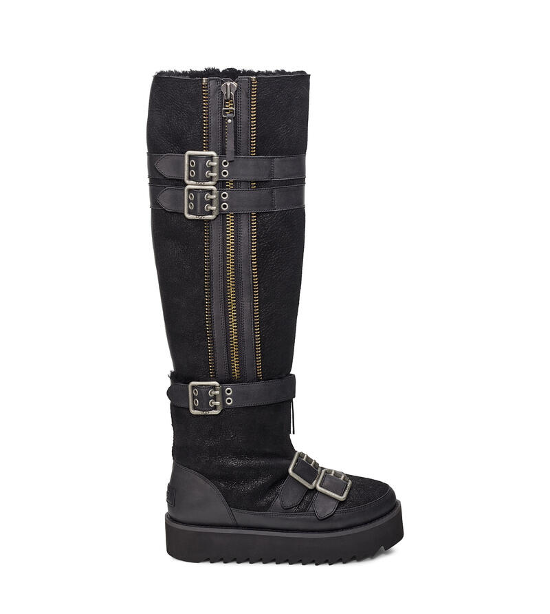 Moto Punk Over The Knee Boot