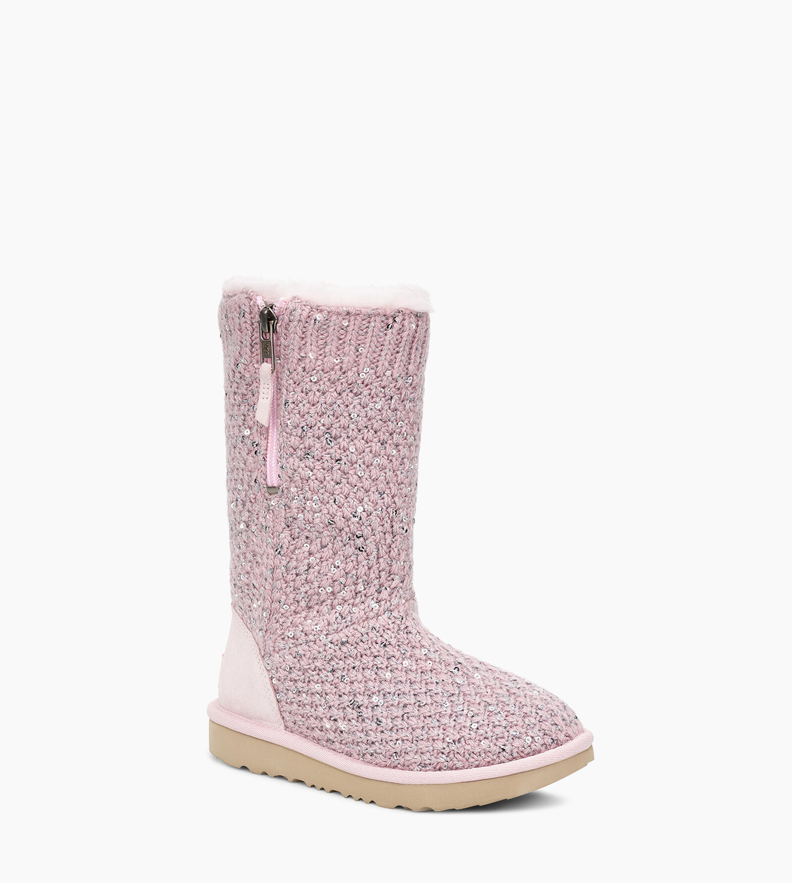 Sequin Knit Boot