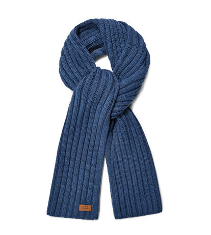 Diagonal Ribbed Stripe Scarf