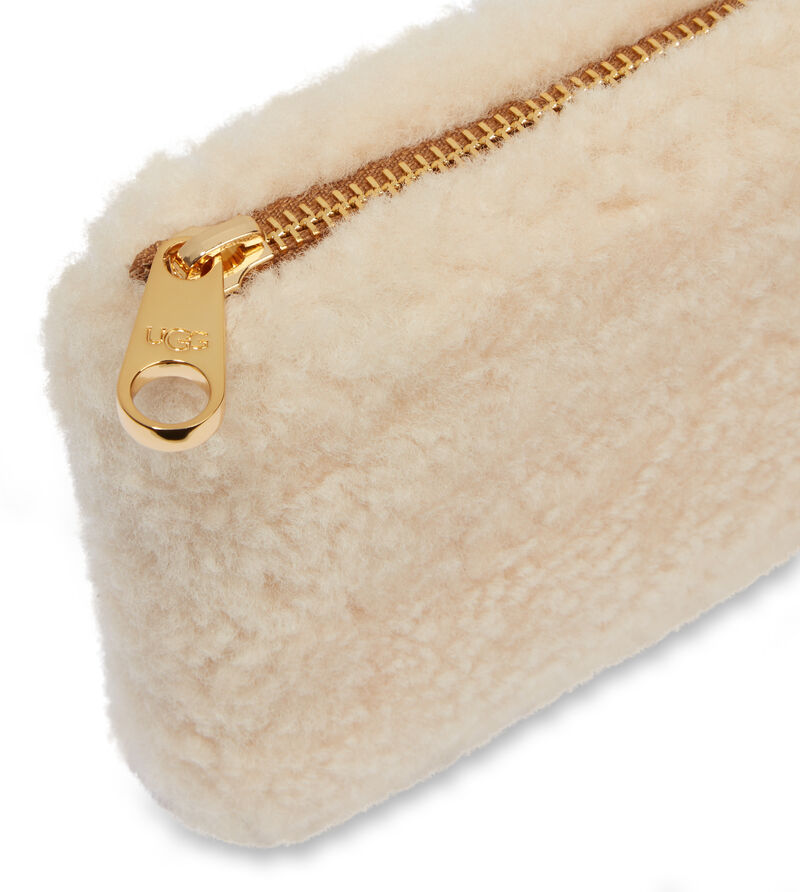 Small Zip Pouch Sheepskin Pochette
