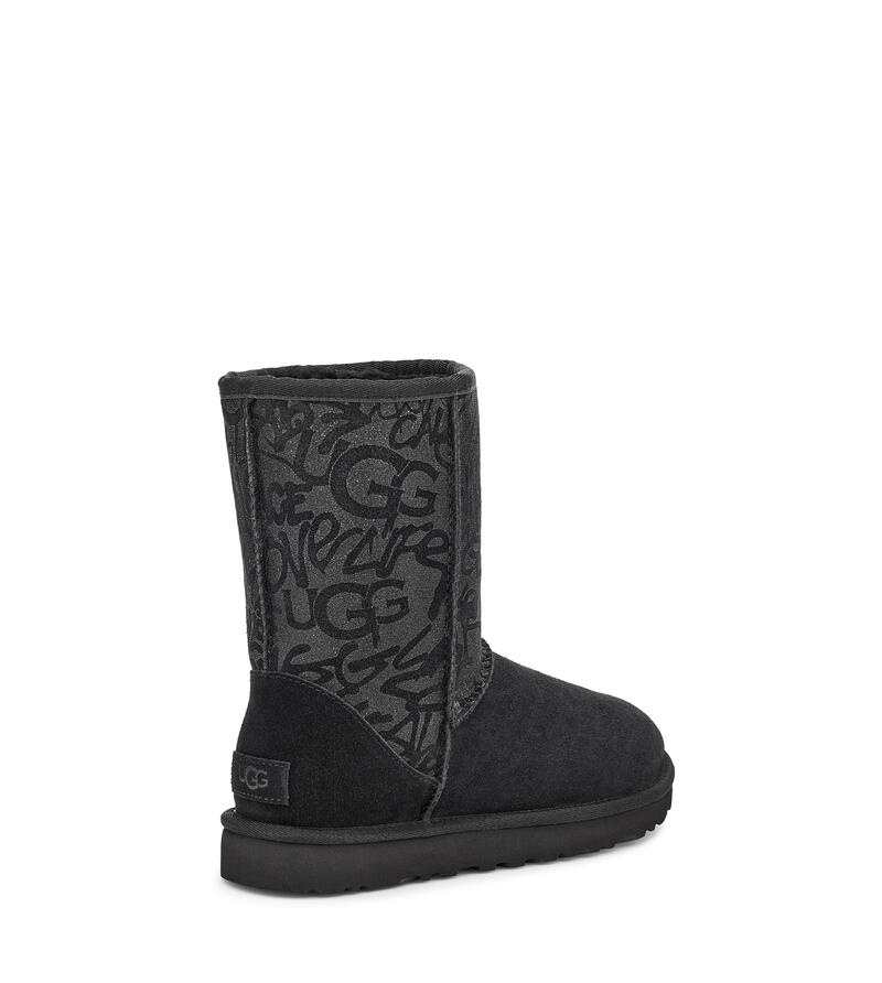 Classic Short Sparkle Graffiti Boot