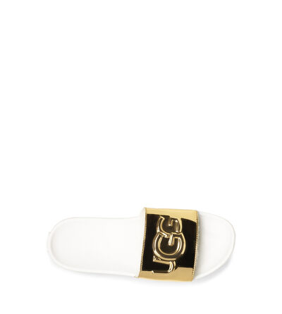 Royale Graphic Metallic Slide Sandalen