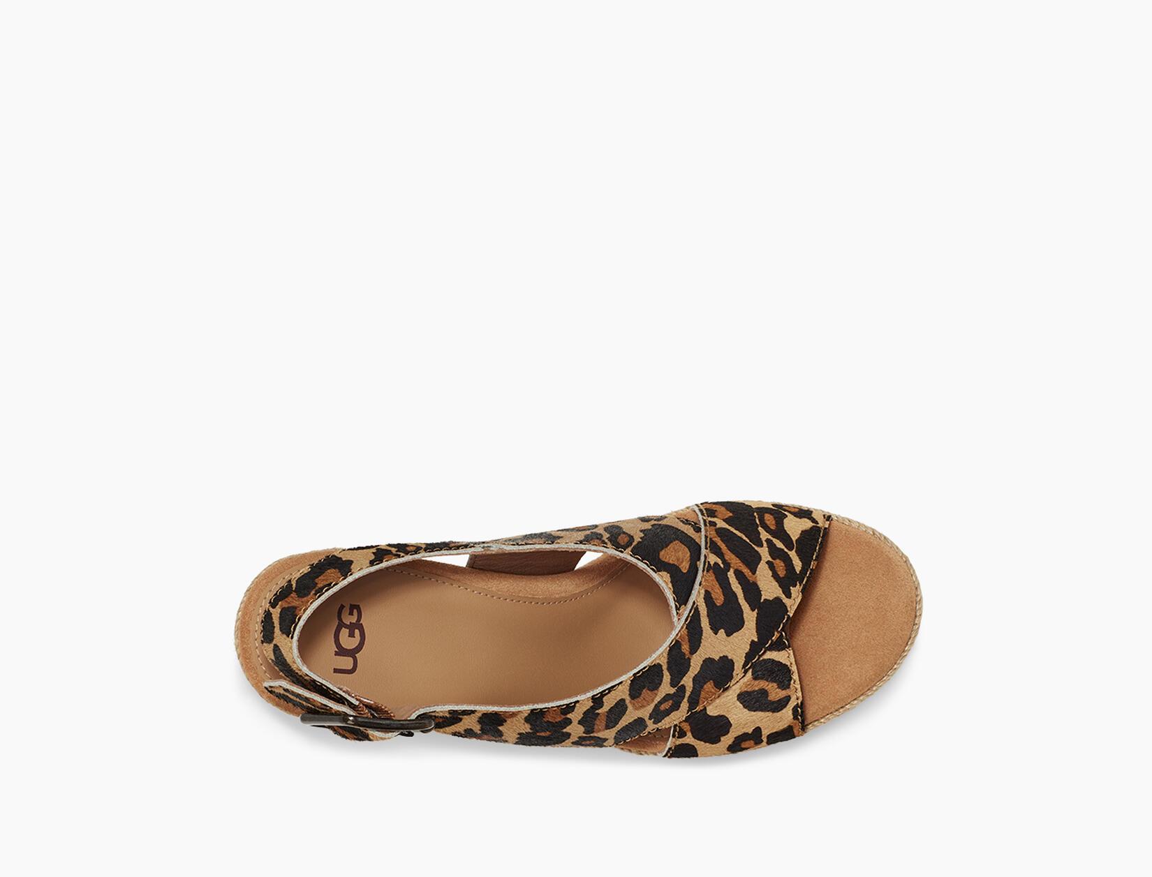 Harlow Leopard Wedge