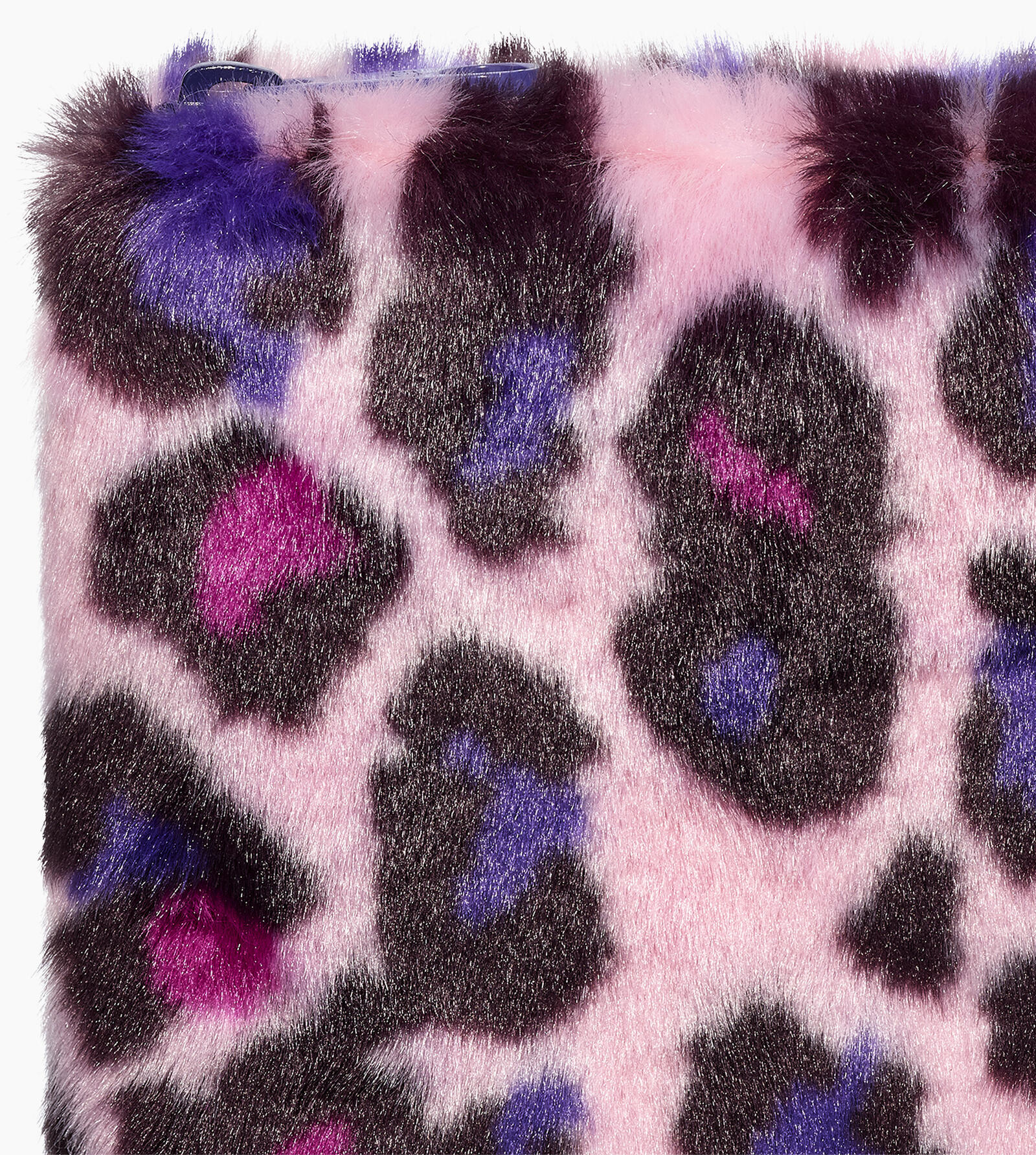 Faux Fur Medium Zip Pouch