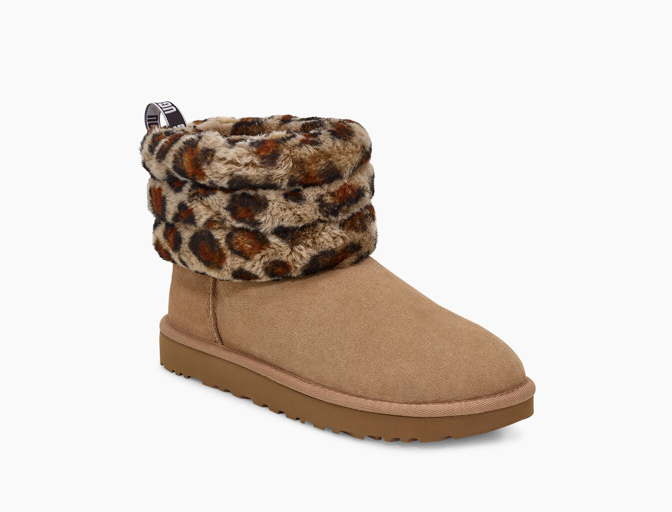 UGG® Fluff Mini Quilted Leopard Boot