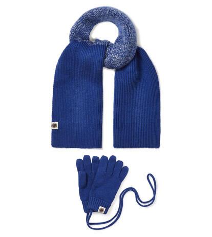 Boys Marled Pom Scarf Glove