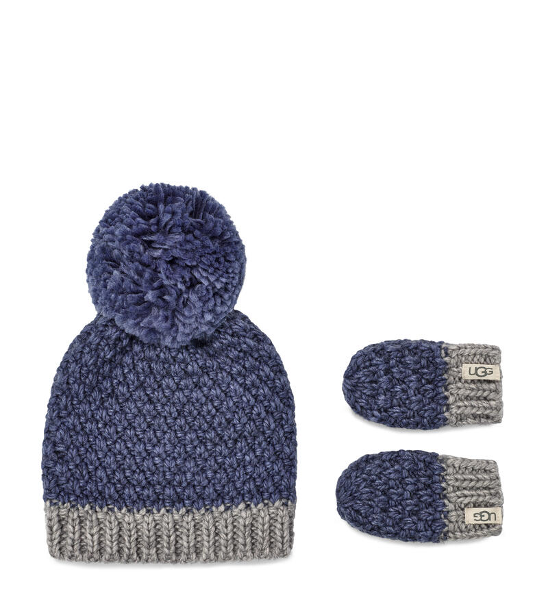 Knit Hat and Mitten Set