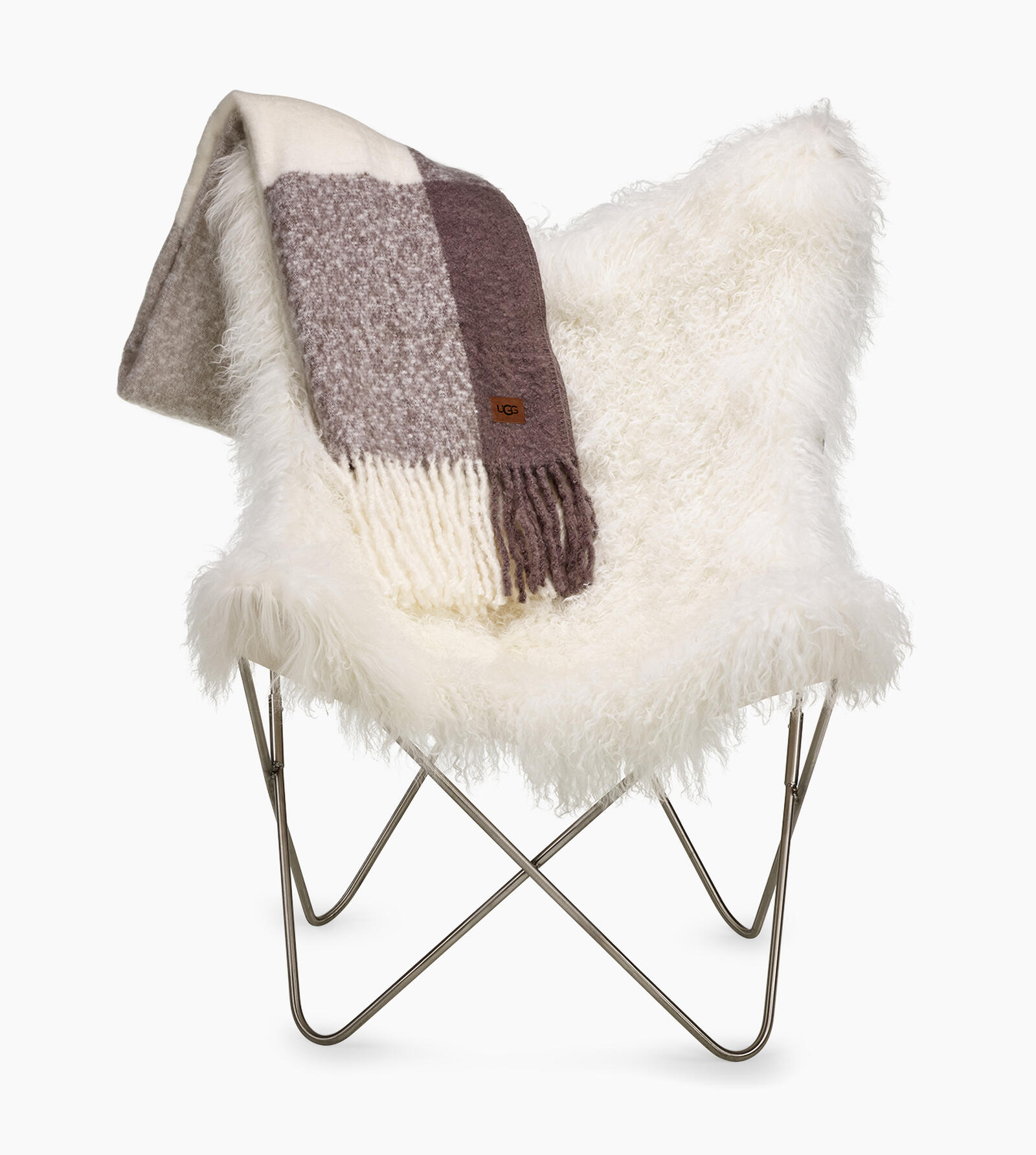 Mongolian Fur Butterfly Chair