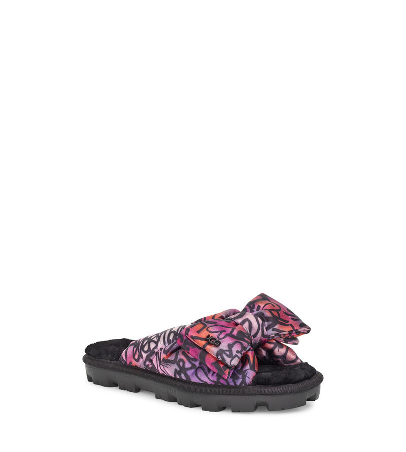 Lushette Pop Graffiti Puffer Chaussons