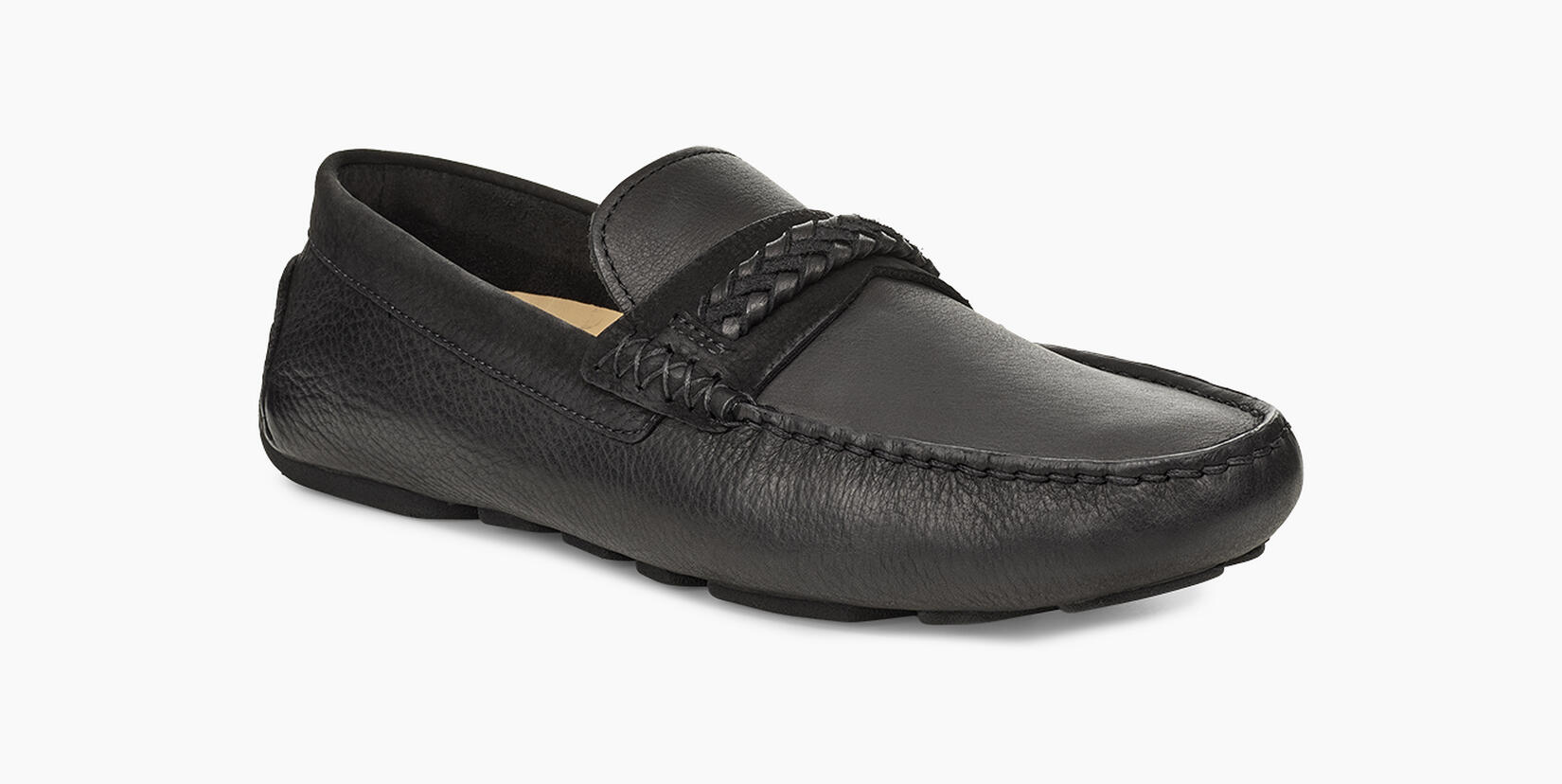 Henrick Leather Braid  Moccasins