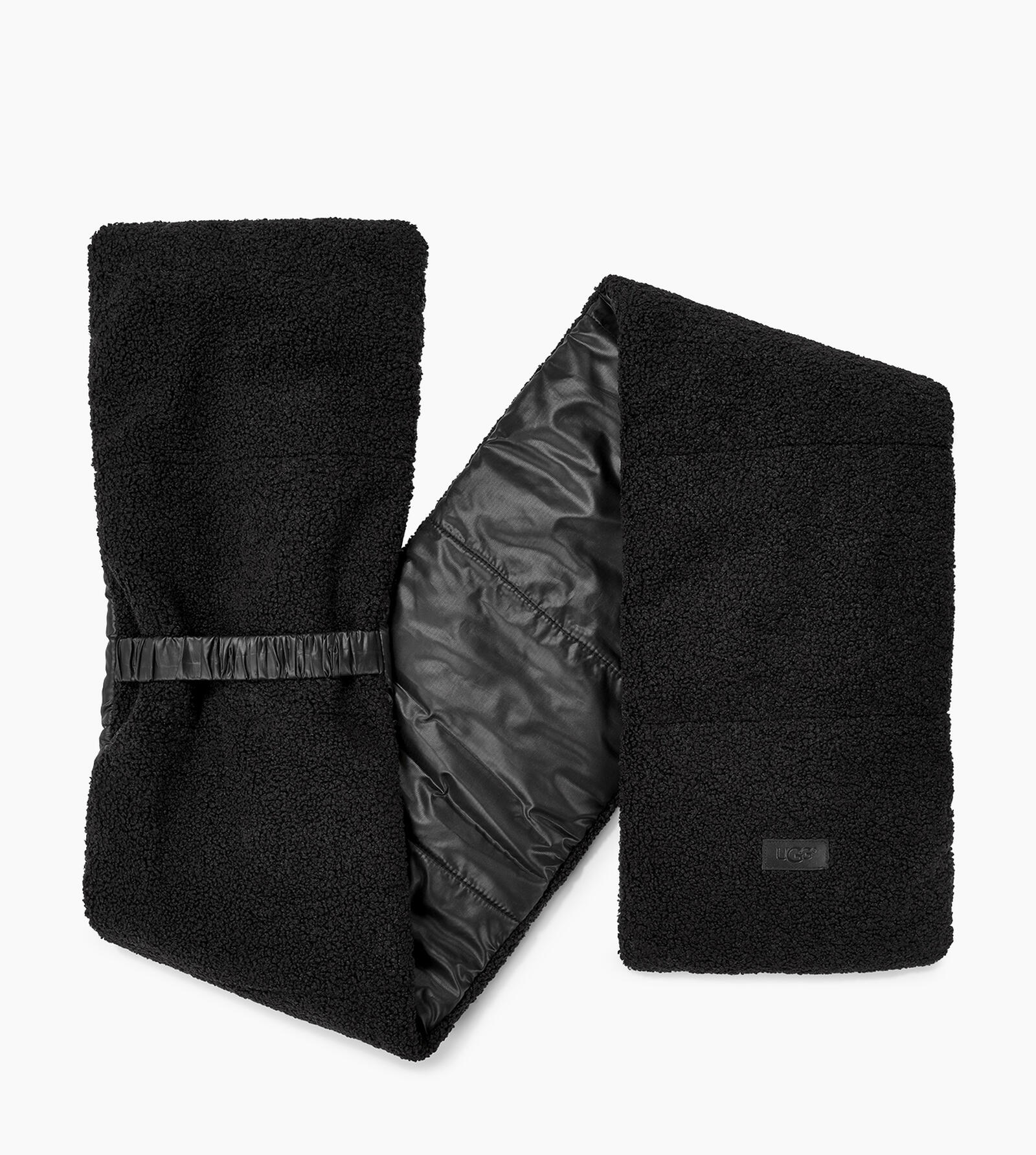 Fabric to Sherpa Puffer Scarf