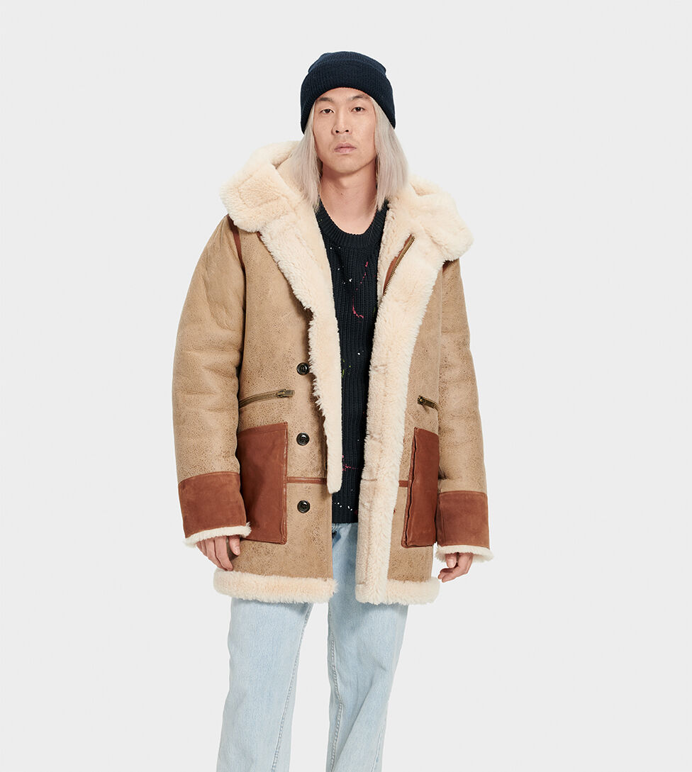 Men's Yates Shearling Hooded Coat