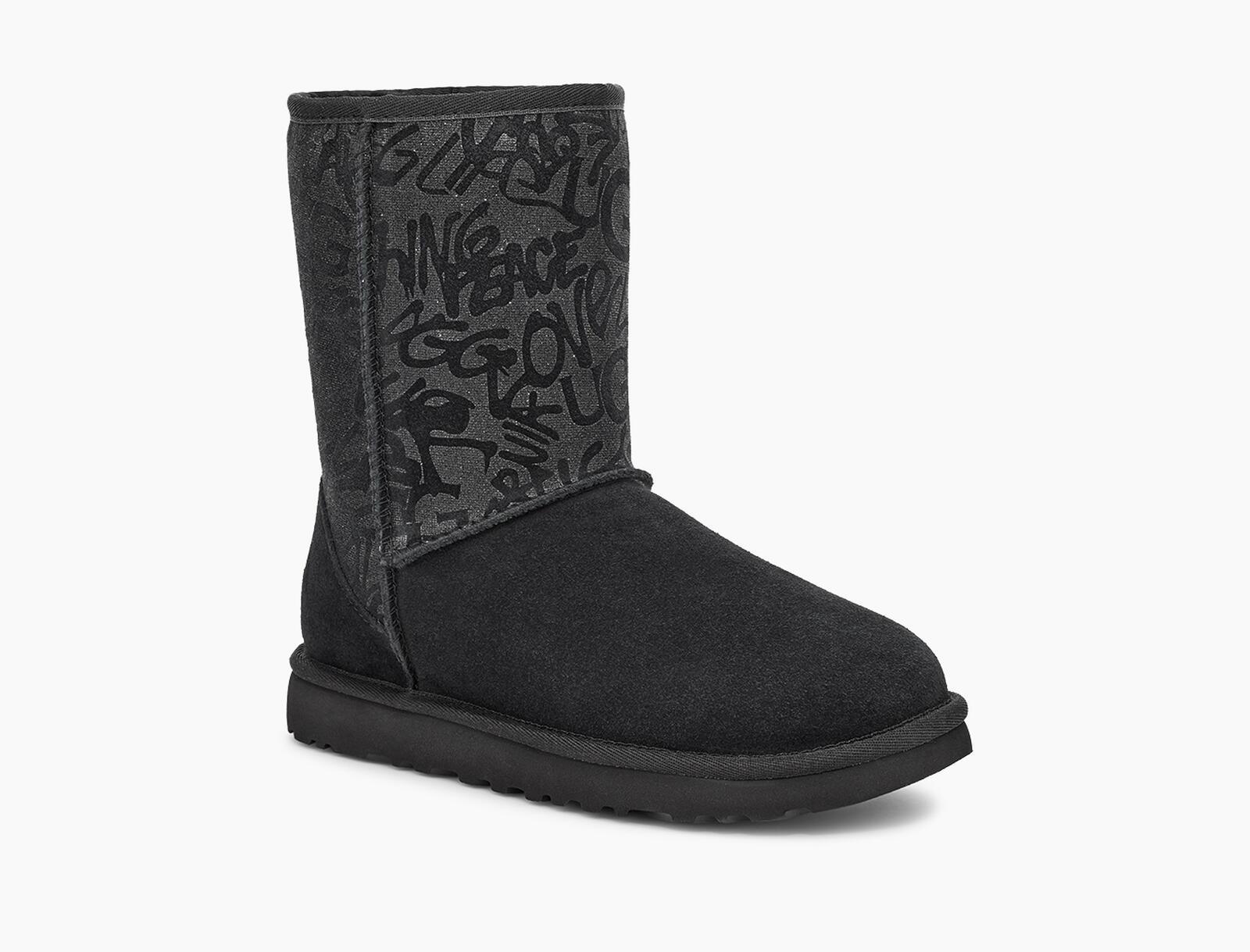 Classic Short Sparkle Graffiti Boot