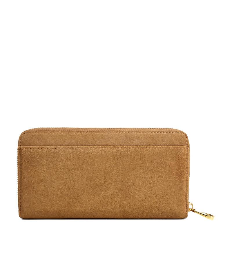 Honey Zip Sheepskin Portemonnaie