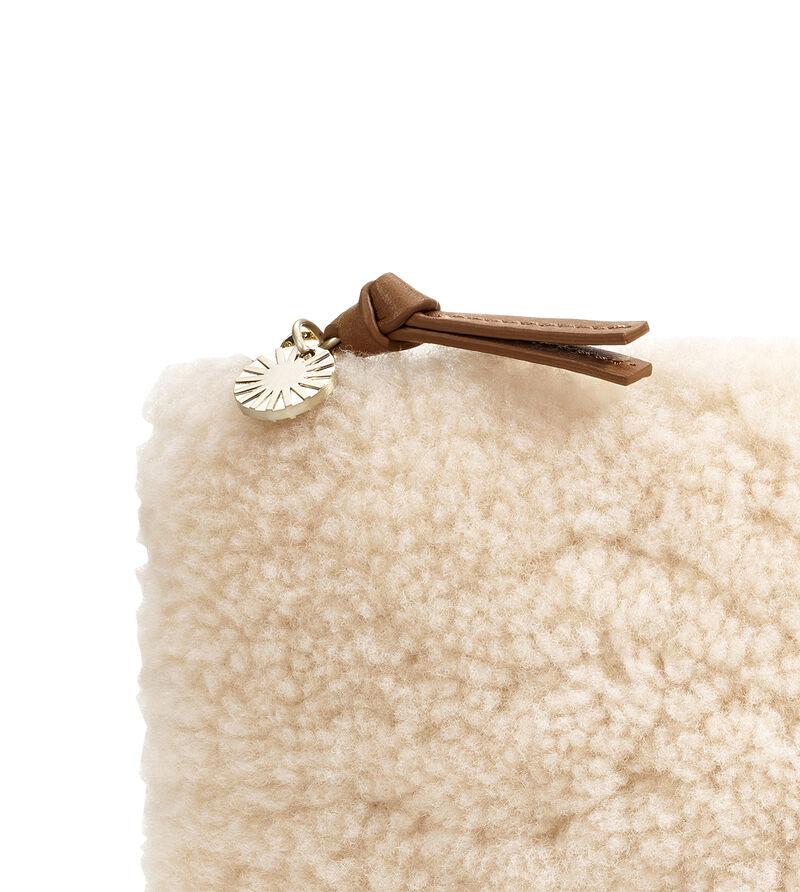 Large Zip Pouch Sheepskin Clutch