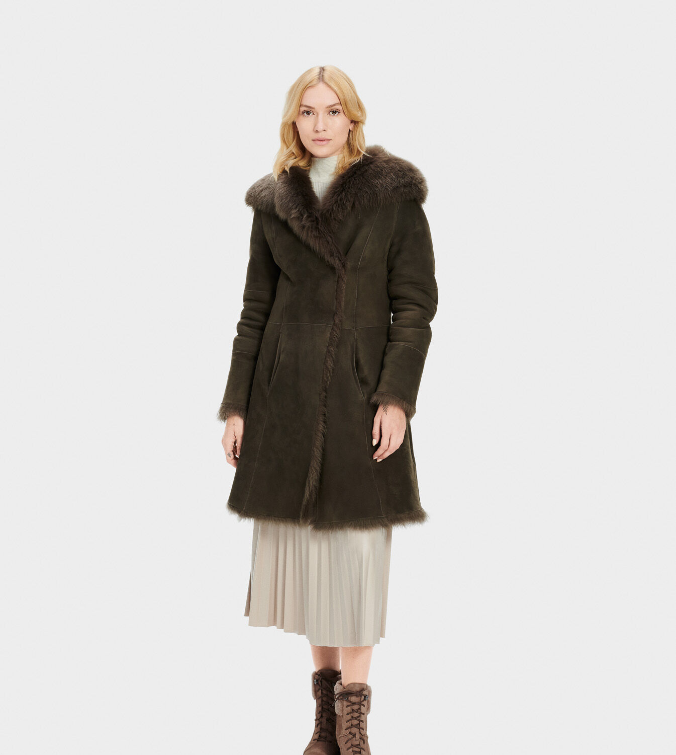 Women's Vanesa Toscana Shearling Coat