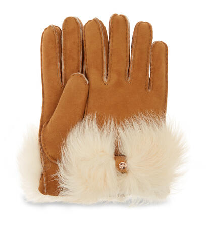 Long Pile Bow Glove