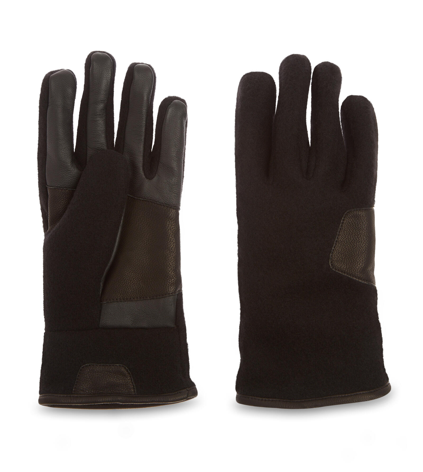Fabric and Leather Gants
