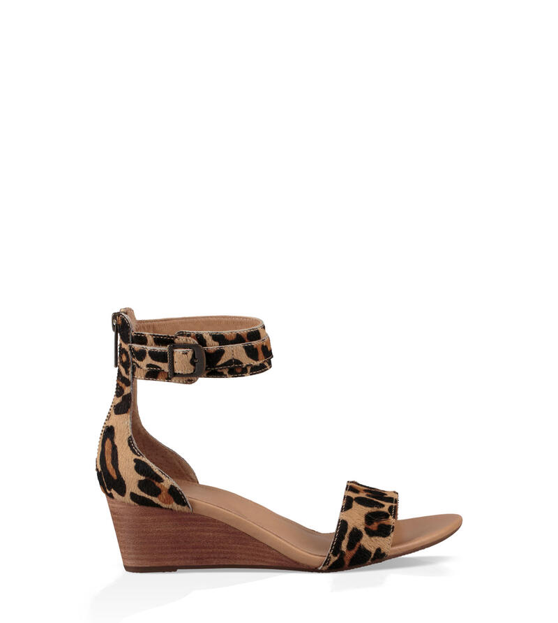 Char Leopard Wedge