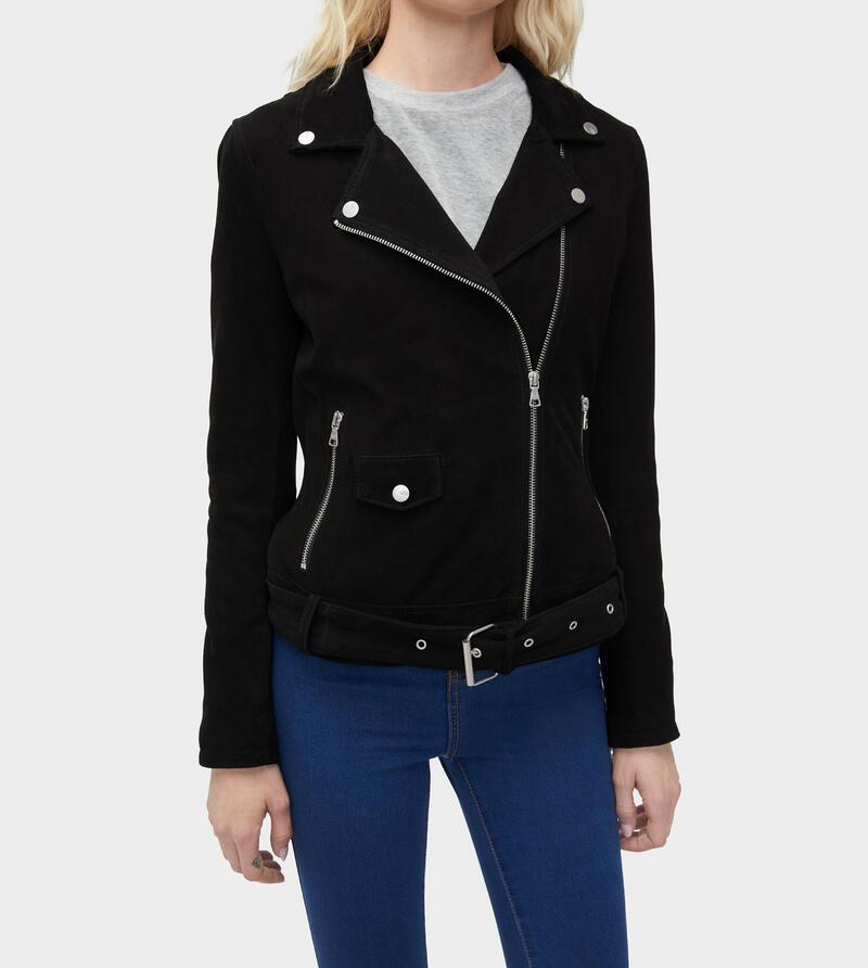 Stacey Suede Moto Jacket