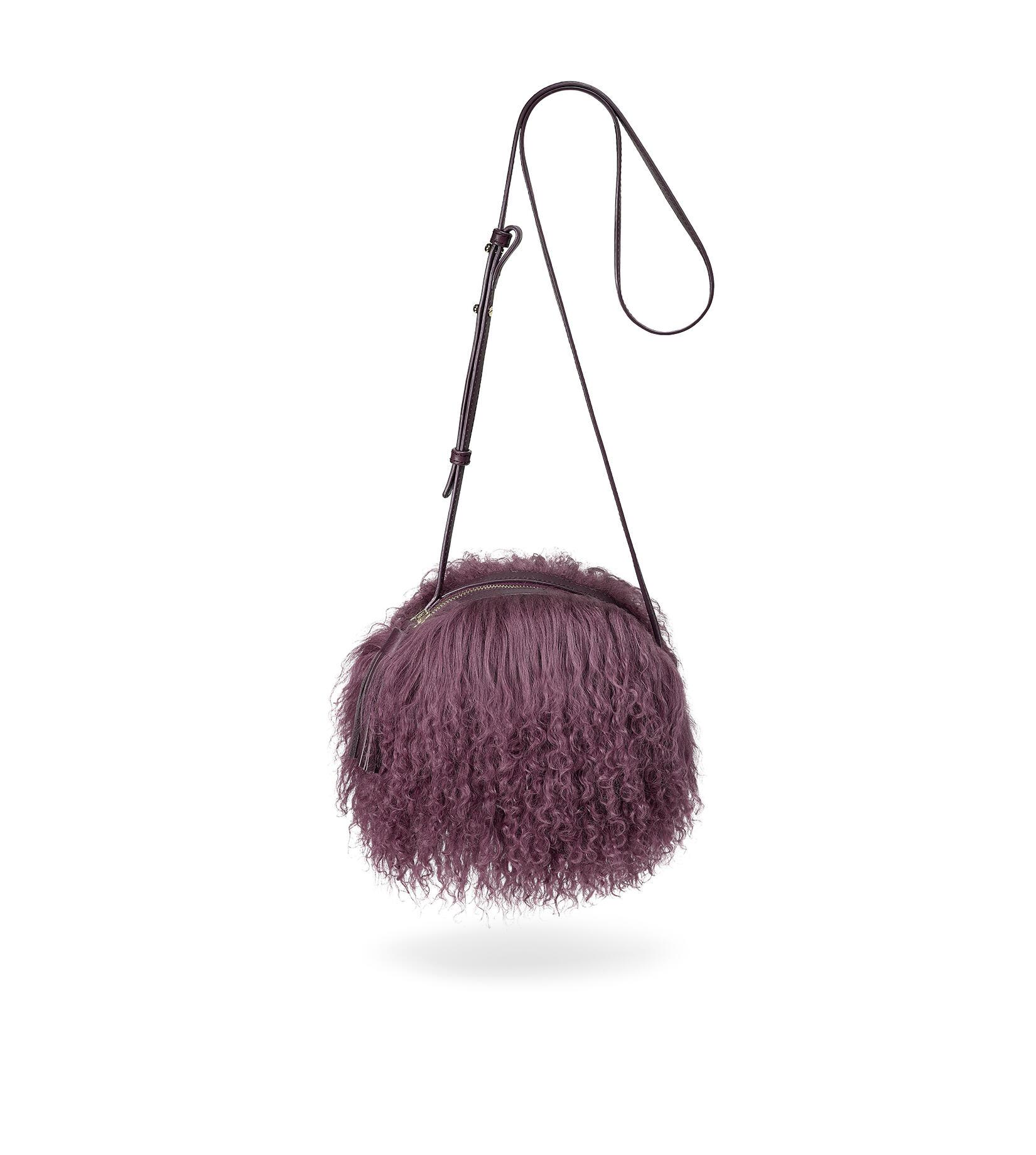 Mongolian Pom Pom Crossbody Bag