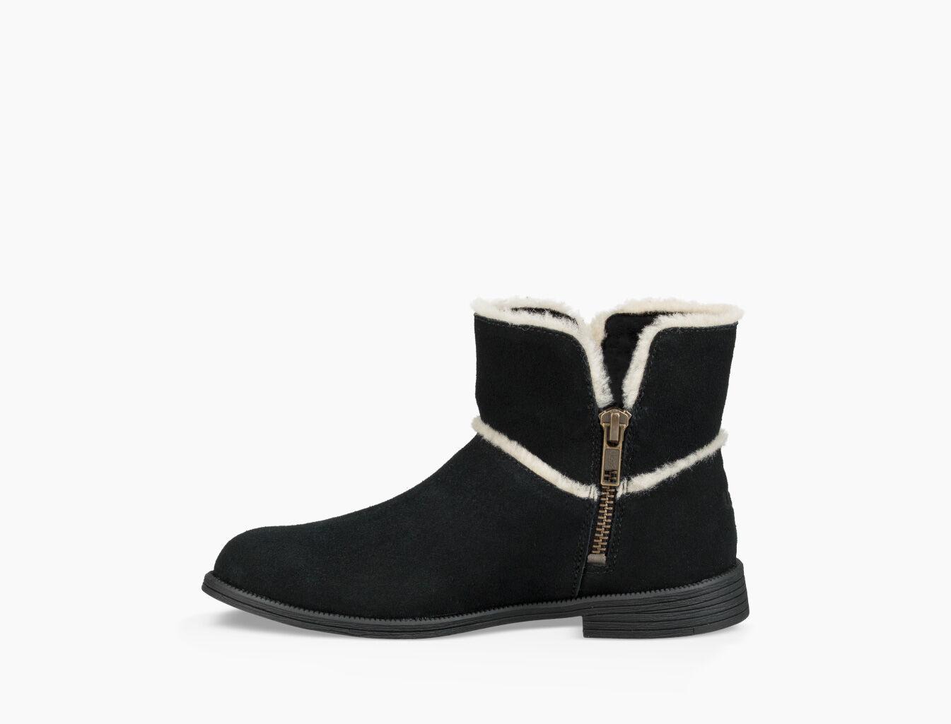 Ugg Boots Stiefel Lederstiefel Wolle Leder 37 Reißverschluss NEU
