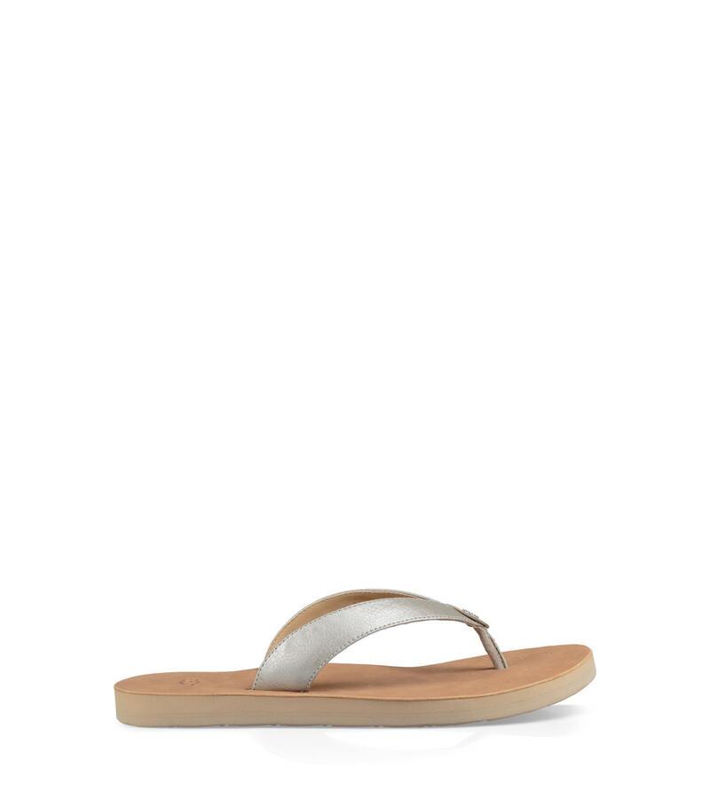 Tawney Metallic Flip-Flops