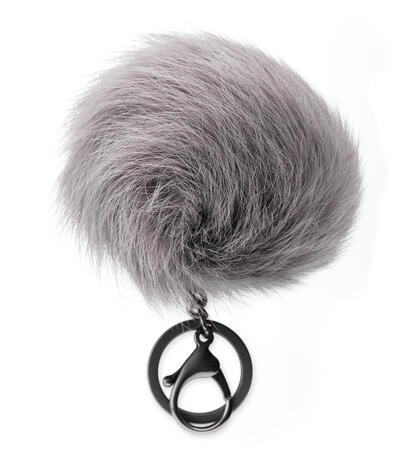 Toscana Pom Keyring With Crystal Charm