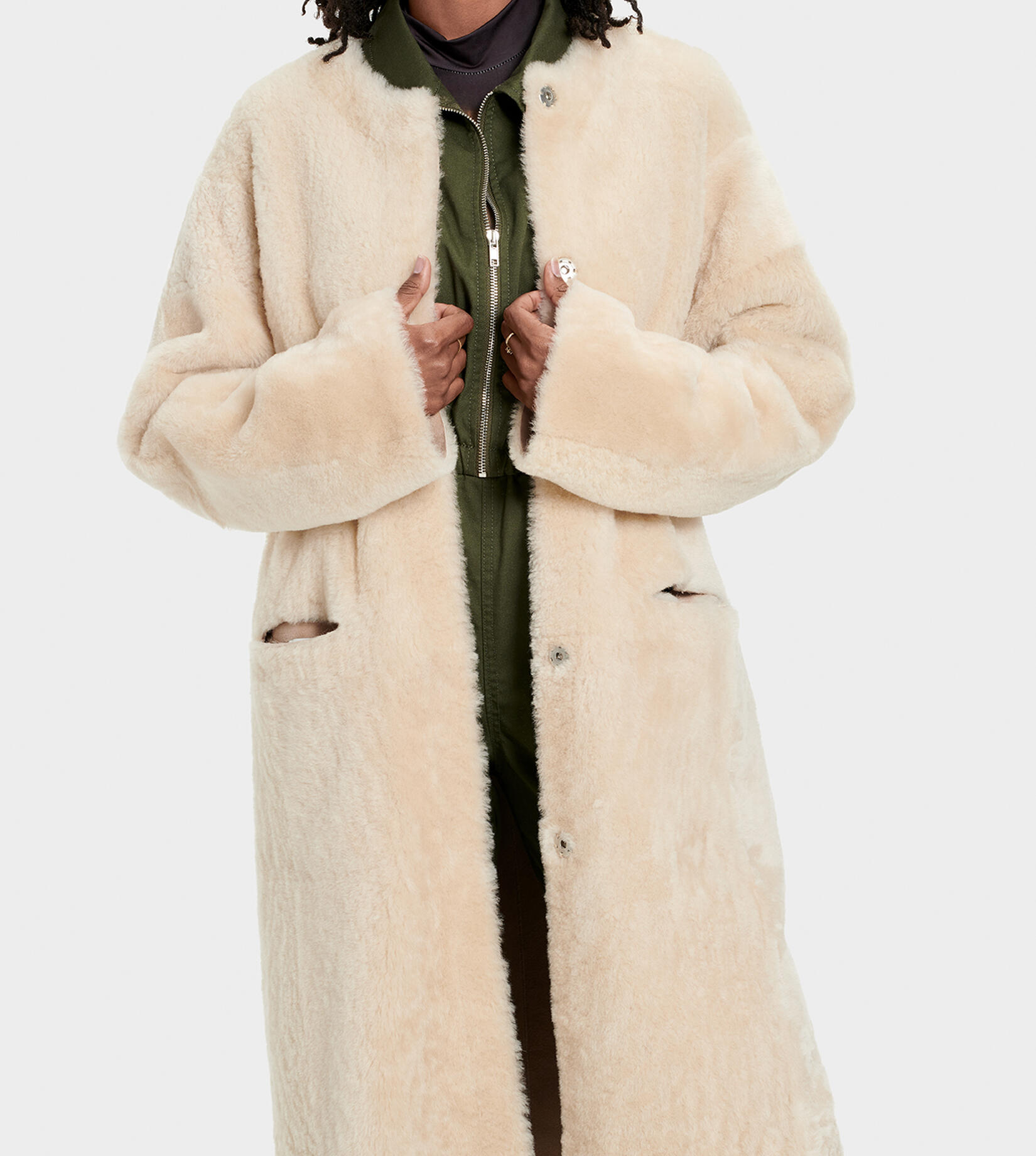 Remy Reversible Shearling  Jas