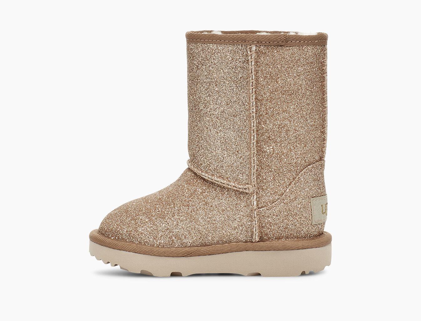 Schuhe UGG Kids' Classic Short II Glitter 1111852K Gold