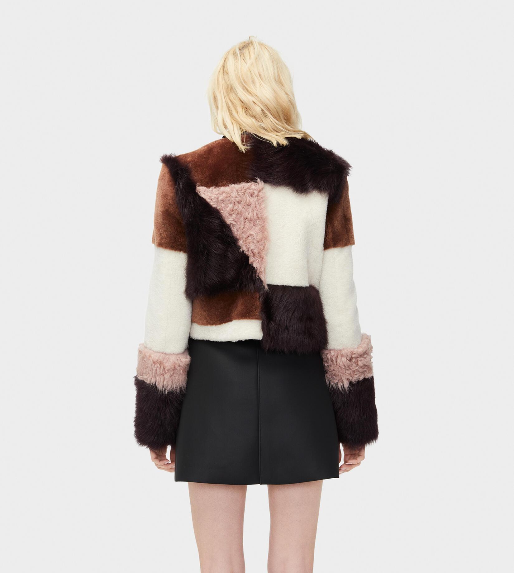 Hal Patchwork Short Fur Jacket