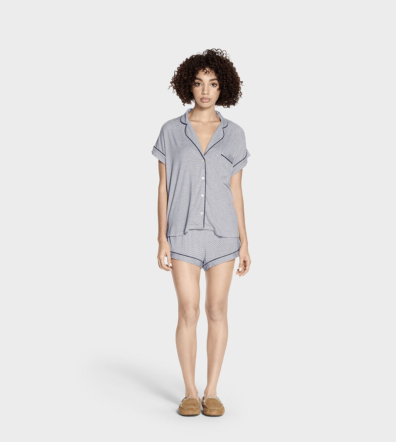 Amelia Mini Stripe Pyjama Set
