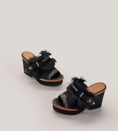 Fluff Punk Heel Sandalen